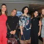 Thais Carvalho e Simone Simões, do Hotel Rio Lancaster, com Alice Dias, Cassiana Siqueira e Inés Lafosse, do Expedia