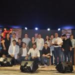 Trade de Porto de Galinhas, com o secretário de Turismo de Pernambuco, Rodrigo Novaes, Cleiton Armelin, da CVC Corp, e Daniela Araújo, da Gol