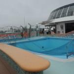 Uma das piscinas do navio
