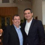 Vanderlei Folgueral, da BRT, e Carlos Antunes, da Copa Airlines