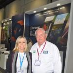 Vanessa Mendonça, secretária de Turismo do Distrito Federal, com Roy Taylor, presidente do M&E