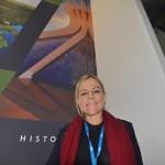 Vanessa Mendonça, secretário de Turismo do Distrito Federal, no estande o Consórcio Brasil Central