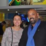 Veruska Xavier, da Embratur, e Carlos Santos, da ExpoMundo