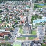 Vista aerea da cidade de Canela