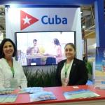 Vivian Socorro, da Havanatur, e Isabel Sanz, da Embaizada de Cuba