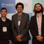 William Gregory, da Universidade do RJ, Rafael Bernardo, da PonteAPonte, e Felipe Lazoski, da Universsidade Federal do Paraná Litoral