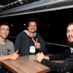 Willian Gregory, da Universidade do RJ, Rafael Bernardo, da Ponte A Ponte, e Felipe Rafael Lazoski, da Universidade Federal do Paraná