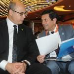 Wilson Witzel, governador, e Otávio Leite, secretário de Turismo do RJ