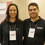 Denise Farjalla, gerente de Produtos - Resorts Brasil, e Woody Garcia, gerente de Produtos Nacionais
