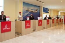 Emirates inaugura primeiro terminal de check-in fora de um aeroporto
