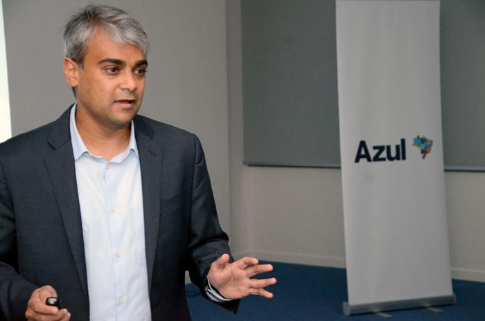 Abih Shah, vice-presidente de Receitas da Azul, anunciou a aprovação da joint venture durante o Azul day, realizado em dezembro.