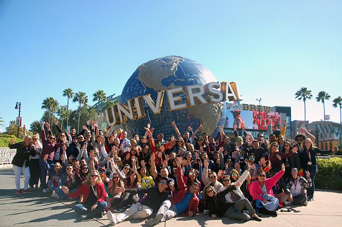 Agentes do Brasil, México, Santiago do Chile e Argentina reunidos no Fam Tour and U, da Universal