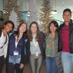 Alessandra Santos (Universal), Jamile Abud (Tessatour), Jacqueline Miranda (Copa Airlines), Jae Sen Lan (O Viajante) e Rafael Carneiro (Trend)