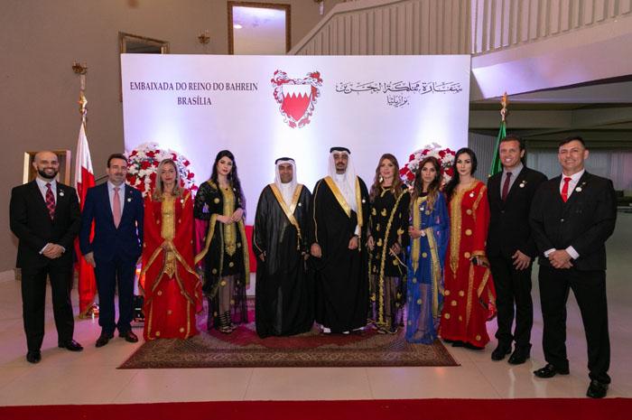 Autoridades na festa nacional do Bahrein