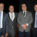 Bob Santos e Aluizer Malab, do MTur, Claudio Beato, secretário de Belo Horizonte, e Gilmar Piolla, secretário de Turismo de Foz