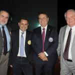 Claudio Magnavita, da Associação Brasileira de Revistas e Jornais de Turismo, Gilmar Piolla, secretário de Turismo de Foz, Vinicius Lummertz, secretário de Turismo de SP, e Roy Taylor, do M&E