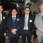 Claudio Tinoco, secretário de Turismo de Salvador, Manoel Linhares, da ABIH Nacional, Gilmar Piolla, secretário de Turismo de Foz, e Roy Taylor, do M&E