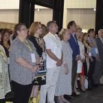 Convidados durante o Hino Nacional