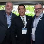 Michael Barkoczy da Mundo Melhor, Roberto Silva da Sanchat, e Clovis Casemiro da IGLTA