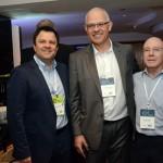 Randall Aguero, da Gol; Altamiro Severino, da South African Airways; e Drausio Tabuso, da D Tabuso Turismo