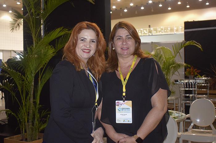 Enid Câmara, presidente da Abeoc Ceará; e Fátima Facuri, presidente da Abeoc Brasil