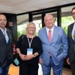 Fernando Joly; Rosa Masgrau e Roy Taylor do M&E; e Carlos Antunes da Copa Airlines
