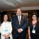 Gisele Lima da Promo; Eduardo Sanovicz e Vanessa Dantas da Abear