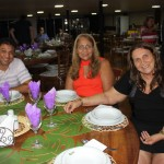 Vera e Denise da Vera Turismo; e Denison Gomes, da KF tourismo