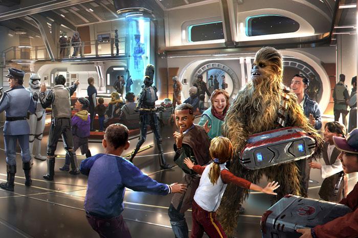 Atrium do Star Wars: Galactic Starcruiser