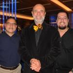 Israel Santos, da Escape Travel, Marlos Benedini, da Bentour, e Roberto Nascimento, da Flaptur Viagens