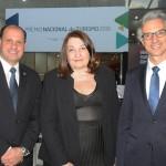 José Ricardo Botelho, presidente da Anac, Magda Nassar, presidente da Abav Nacional, e Marco Ferraz, presidente da Clia Brasil