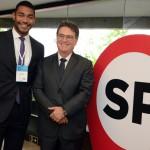 Juliano Braga do M&E e Vinicius Lummertz, secretário estadual de Turismo em São Paulo