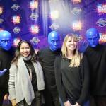 Karla Ochoa, da Universal, com Brittany Egersett, do Blue Man Group