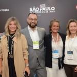 Katia Frias, da American Airlines, Diogenes Toloni, da American Airlines, Mari Masgrau, do M&E e Simone Kruguer, da American Airlines