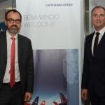 Markus Binkert, CCO do Hub Munique e Tom Maes, diretor Senior de Vendas do Lufthansa Group na America do Sul