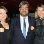 Magda Nassar, da Abav, Roberto Neldeciu, da Braztoa, e Luciane Leite, da WTM-LA