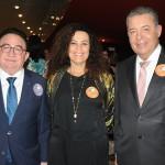 Manoel Linhares, presidente da ABIH Nacional, Kátia Bogéa, presidente do Iphan, e Alexandre Sampaio, presidente do FBHA