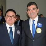 Manoel Linhares, presidente da ABIH Nacional, com Alexandre Pereira, secretário de Turismo de Fortaleza
