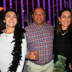 Maria Hulsewe, da North America, Wellington Neves, da Belletur, e Andrea Teixeira, da Alliance Travel