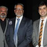 Willian França, Bob Santos e Mateus Martins, do Ministério do Turismo