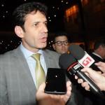 Ministro do Turismo, Marcelo Álvaro Antônio, deu entrevista coletiva durante o evento