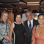 Nélli Zanetti, da Agências Fly Me, Gracia Issa, da GD Turismo, Marco Carbone, da MSC e Ana Soares da Brisa Turismo