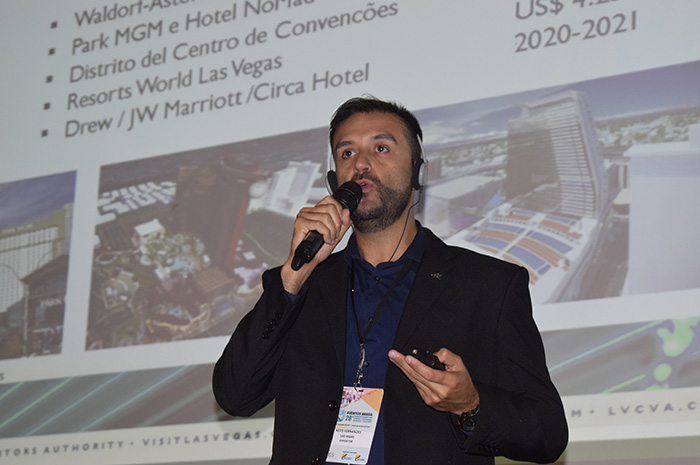 Neto Fernandes, gerente de Mice do Las Vegas Convention and Visitors Authority para a América do Sul