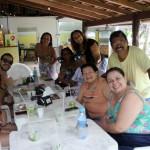 O grupo permaneceu no Ecopark para um almoço e depois partiu para a Casa do Vidro