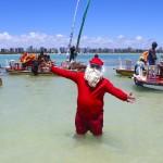Papai Noel na praia