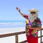 Papai Noel aproveitando o verão