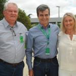 Paulo Henrique Pires, da Localiza, recebeu Roy Taylor e Rosa Masgrau, do M&E, na sede em Belo Horizonte