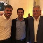 Philipe Campello, do RioCVB, com o secretário Especial de Turismo do Rio, Paulo Jobim, e o chefe de gabinete, Leonardo Pinto