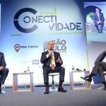 Ralf Aasman, da AirTKT, Nelson Oliveira, da Alitalia, e Mario Carvalho, da TAP