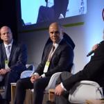 Ralf Aasmann, da AirTKT, Nelson Oliveira, da Alitalia, e Mario Carvalho, da TAP